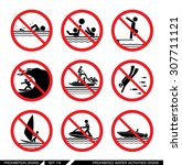 set of prohibition signs for...   Shutterstock .eps vector #307711121