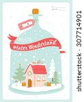merry christmas and happy new...   Shutterstock .eps vector #307714901
