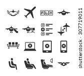 aviation icon series 6.... | Shutterstock .eps vector #307719011