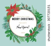 vintage vector card. i wish you ... | Shutterstock .eps vector #307720151