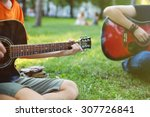 Постер, плакат: Guys Play Guitars in