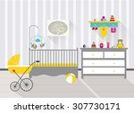 Baby Room With Furniture And...