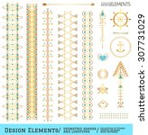 set of geometric shapes. trendy ... | Shutterstock .eps vector #307731029