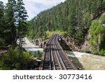 Railroad Tracks Through The...