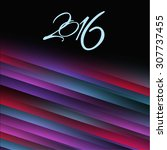 card  poster for the new year... | Shutterstock .eps vector #307737455