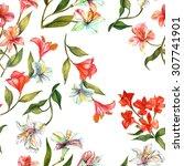 Seamless Watercolor Flowers ...