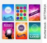 template. set of poster  flyer  ... | Shutterstock .eps vector #307754414