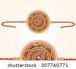 decorated rakhi for raksha... | Shutterstock .eps vector #307760771