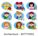 set of icons on the theme of... | Shutterstock .eps vector #307774901