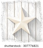 White Star With 3d Effect On...