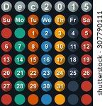 calendar december 2015 with... | Shutterstock . vector #307790111