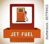 gas station digital design ... | Shutterstock .eps vector #307793411