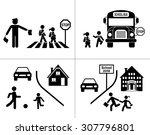 safety of children in traffic.... | Shutterstock .eps vector #307796801