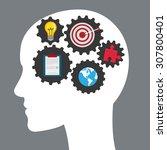 solution digital design  vector ... | Shutterstock .eps vector #307800401
