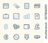 finance web icons set | Shutterstock .eps vector #307806005