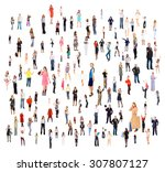 standing together corporate... | Shutterstock . vector #307807127