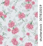 seamless spring blossom flower... | Shutterstock .eps vector #307810019