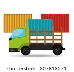 transport vehicle design ... | Shutterstock .eps vector #307813571