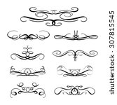 set of elegant flourishes for... | Shutterstock .eps vector #307815545