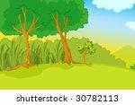 garden park illustration scene | Shutterstock . vector #30782113