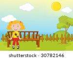garden park illustration scene... | Shutterstock . vector #30782146