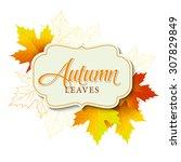 Autumn Typographic. Fall Leaf....