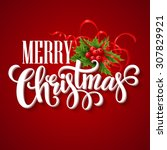 Merry Christmas Lettering Card...