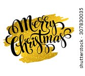 Merry Christmas Gold Glitterin...