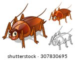 high quality detailed cockroach ... | Shutterstock .eps vector #307830695