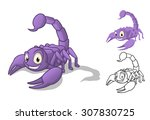 high quality detailed scorpion... | Shutterstock .eps vector #307830725