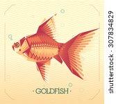 goldfish. geometric abstract... | Shutterstock .eps vector #307834829