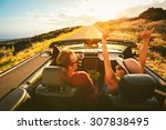 happy young carefree couple... | Shutterstock . vector #307838495