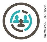demography diagram vector icon. ... | Shutterstock .eps vector #307842791