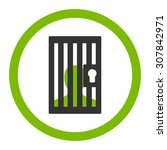 prison vector icon. this... | Shutterstock .eps vector #307842971