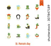 saint patricks day isolated... | Shutterstock . vector #307847189
