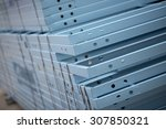 steel framing used for house... | Shutterstock . vector #307850321