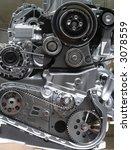 car engine part   close up... | Shutterstock . vector #3078559