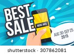 best sale banner. vector... | Shutterstock .eps vector #307862081