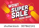 super sale banner design.vector ... | Shutterstock .eps vector #307862141