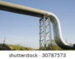 industrial pipelines on pipe... | Shutterstock . vector #30787573