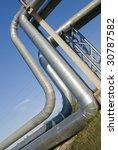industrial pipelines on pipe... | Shutterstock . vector #30787582