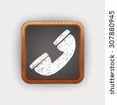 doodle phone | Shutterstock . vector #307880945