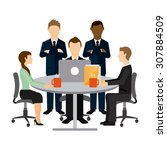 team work design  vector... | Shutterstock .eps vector #307884509