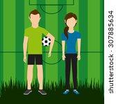 people sport design  vector... | Shutterstock .eps vector #307885634