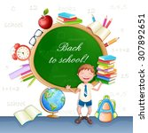 back to school illustration...   Shutterstock .eps vector #307892651