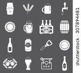 beer icons set illustration | Shutterstock .eps vector #307894481