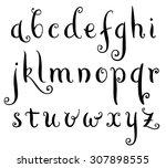 fairytale hand drawn alphabet.... | Shutterstock .eps vector #307898555
