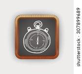 doodle stopwatch | Shutterstock . vector #307899689