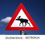 Moose Crossing Sign Norway...