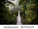 Stock photo suspension bridge in north vancouver canada 307913579